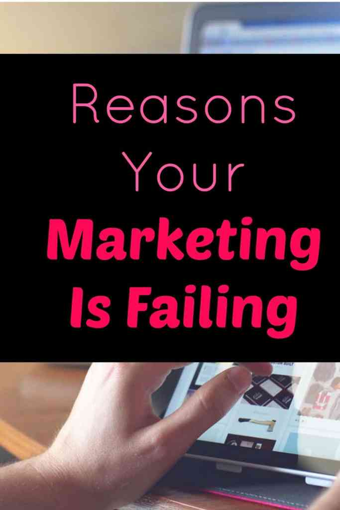 It's Time To Face Up To Why Your Marketing Is Failing.  Marketing is super powerful in business when it's done wrong but if it's failing it could be costly in time and money.  Here are some key reasons why your marketing is not working.
