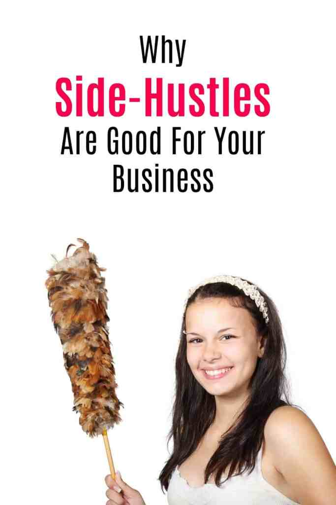 Here's why I think side hustles or side jobs are good for your business and your bank account. I talk about the negative ideas so many people have about side hustles and share my own favourites.