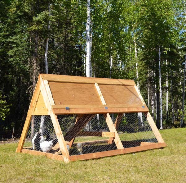 another chicken coop plans by ana white this time its a portable chicken tractor for a chicken tractor this design is the most efficient in - Chicken Coop Design Ideas
