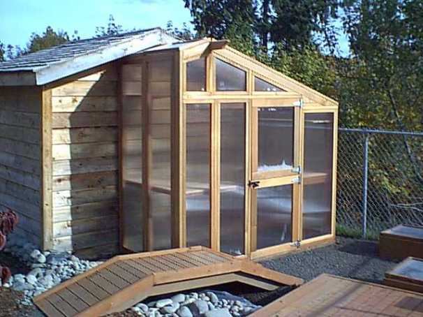 this greenhouse is one that can be added on to a coop or outbuilding it also comes with instruction to make it a stand alone greenhouse if that is your
