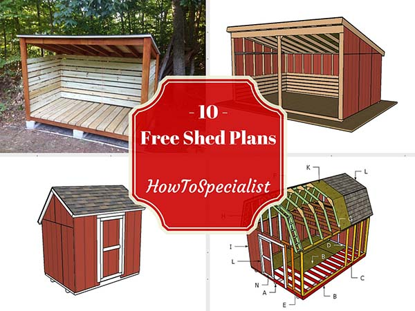 36 45  Ten Free Shed Plans by HowToSpecialist. 108 DIY Shed Plans with Detailed Step by Step Tutorials  Free