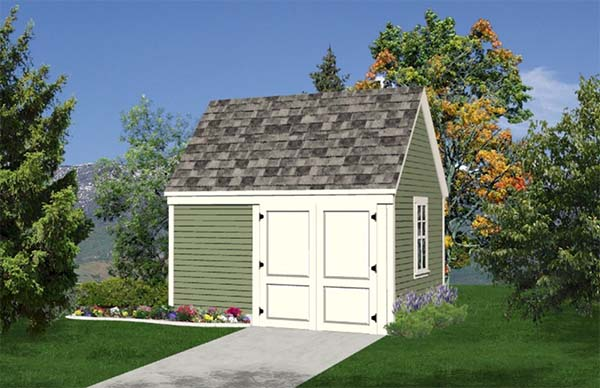 Garden tool lawn tractor shed