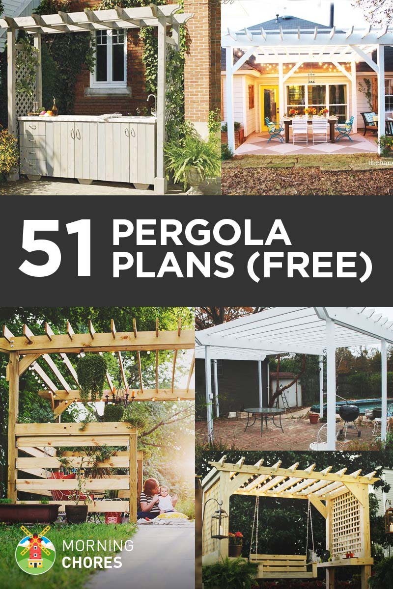 51 DIY Pergola Plans & Ideas You Can Build In Your Garden Free