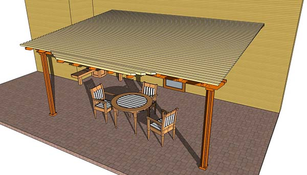 These Are Plans For A Pergola That Will Actually Be Attached To The  Backside Of Your House. It Is Meant To Cover A Patio Space So It Can Be  Better Enjoyed.
