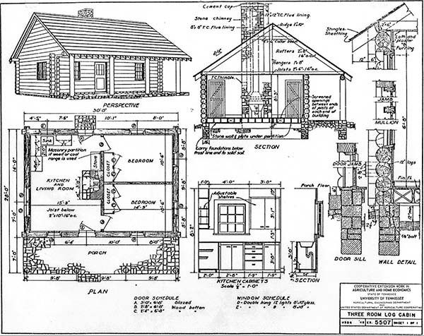 Cabin Floor Plans small cabin floor plans cozy compact and Multiple Cabin Plans By University Of Tennessee