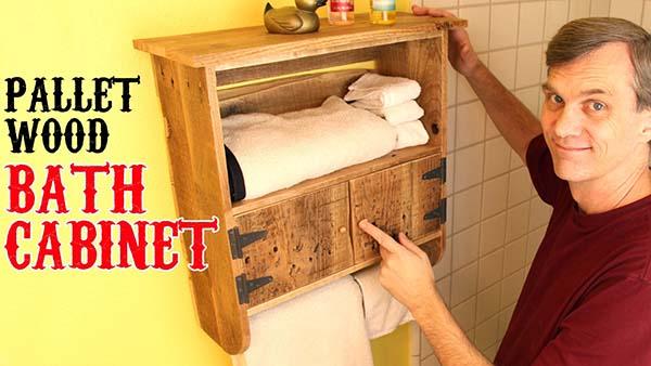 Pallet Bath Cabinet