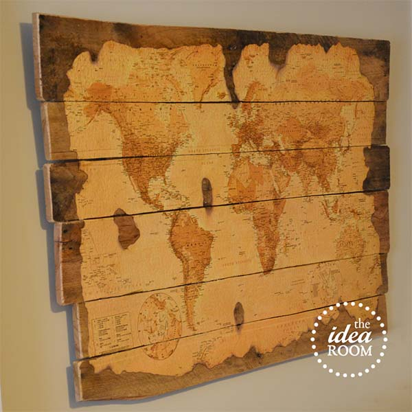 Pallet Decorative Map