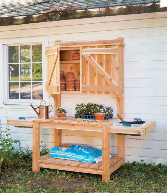 45 diy potting bench plans that will make planting easier free Potting bench ideas