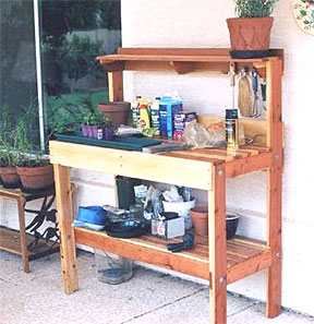 High Quality This Garden Work Bench Is Beautiful As It Is Constructed Out Of Cedar Wood.  It Has Ample Of Work And Storage Space.