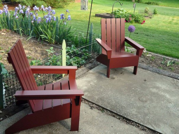 Adirondack Chair Designs in Anas Design For An Adirondack Chair Is A Great One The Reason Is Because She Puts Her Own Spin On The Classic Design These Look Sleek And Modern