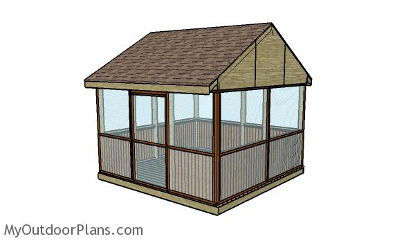 22 free diy gazebo plans ideas to build with step by for Building a screen room