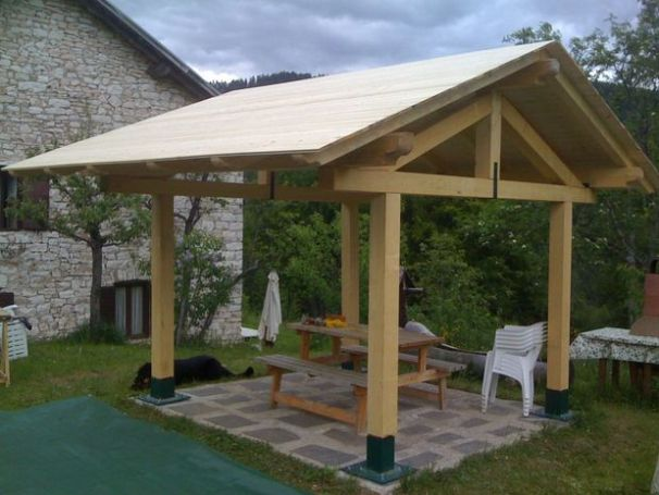 22 free diy gazebo plans ideas to build with step by for Step by step to build a house yourself