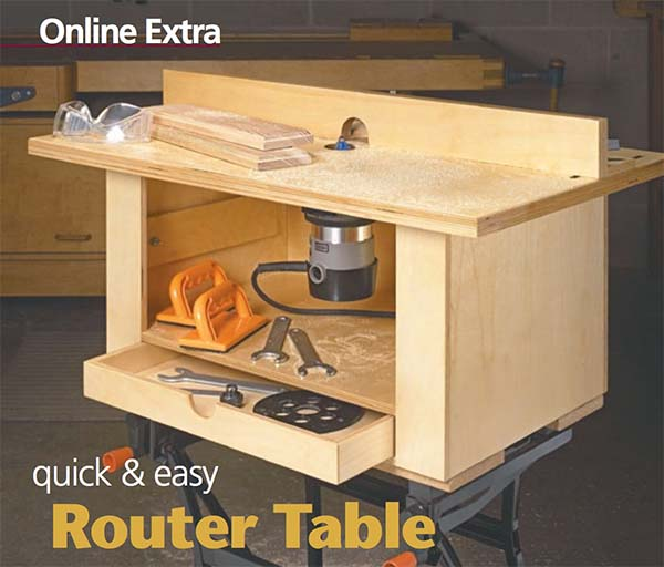 quick and easy router table