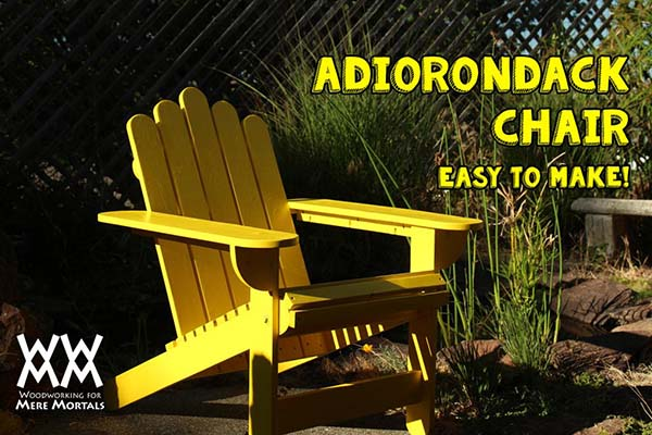 Summertime relaxing adirondack chair