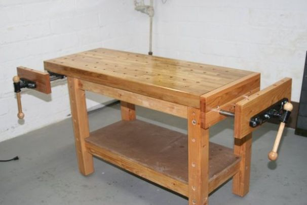 so this bench is basically saying that it knows what a real woodworker needs in order to work and it is it the plans claim that it is sturdy enough not to - Workbench Design Ideas