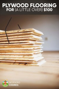 DIY Cheap Plywood Flooring Ideas for $100 in 7 Easy Steps