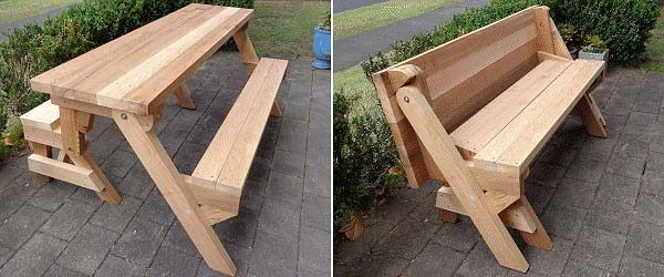 Captivating Folding Picnic Table Plans