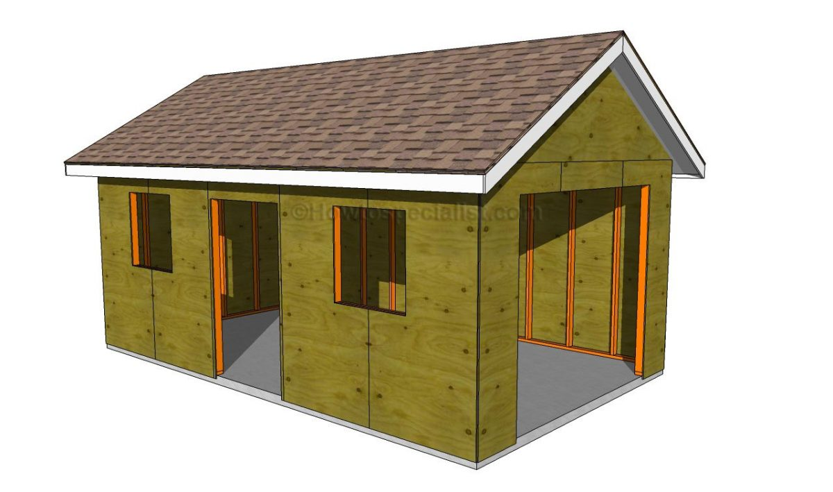This Garage Is A Basic Design Of A 2 Car Garage. This Is Good Because The  More Simple The Design, Usually, The Easier It Is To Construct.