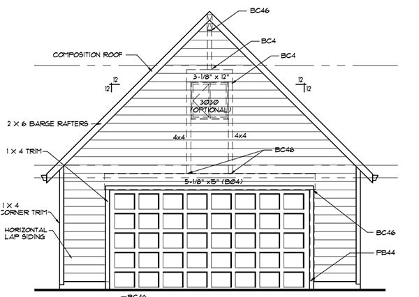 18 free diy garage plans with detailed drawings and for Draw garage plans online free