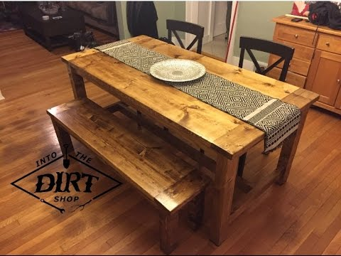 40 Diy Farmhouse Table Plans Amp Ideas For Your Dining Room