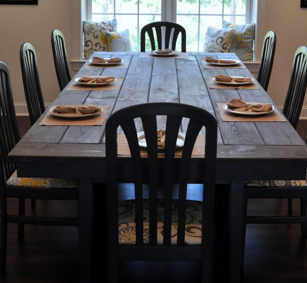 this table reminds picnic it built benches but top laid traditional style rustic dining white set