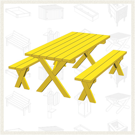 This Is Another Basic Picnic Table Design. Yet, The Benches With This  Design Are Detached. This Is A Nice Feature If Youu0027d Like The Flexibility  To Be Able ...