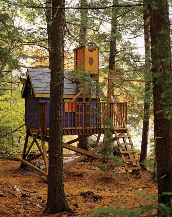 easy tree house designs. This tree house is absolutely adorable  With its pop of color you could easily place it in a wooded area yet would still stand out 30 DIY Tree House Plans Design Ideas for Adult and Kids 100 Free
