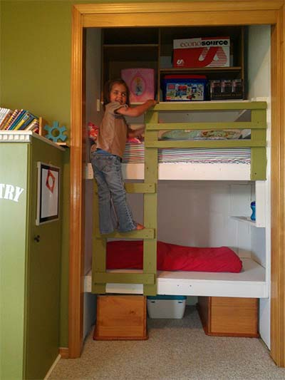 the built in bunk bed plans - Bunk Beds Design Plans
