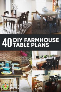 40 DIY Farmhouse Table Plans & Ideas for Your Dining Room ...