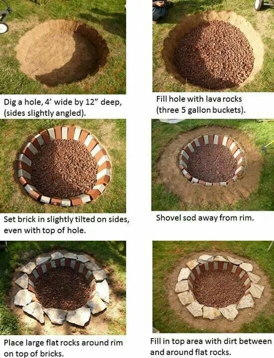 57 inspiring diy outdoor fire pit ideas to make smores with your are you on a tight budget but you still want a cool space at your house to host get togethers then this fire pit could potentially be right up your alley solutioingenieria Gallery