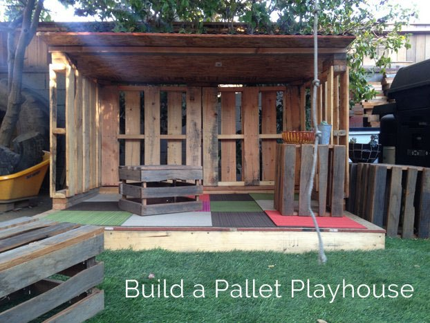 31 free diy playhouse plans to build for your kids 39 secret for How to make a playhouse out of wood