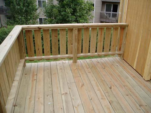 Deck Railing Ideas on Cabin Storage Building Plans