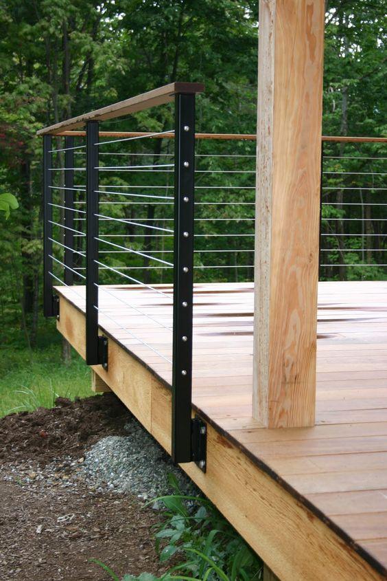 how to build a deck railing diy