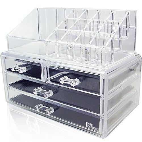Ikee Design Acrylic Jewelry Cosmetic Storage Display Boxes