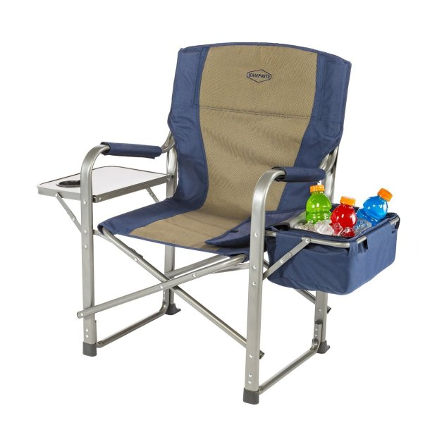 Kamp-Rite Director Chair with Side Table and Cooler
