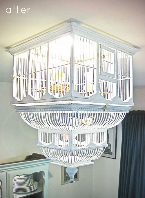 34 beautiful diy chandelier ideas that will light up your home diy birdcage chandelier aloadofball Images