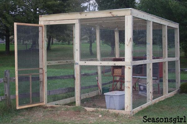 61 diy chicken coop plans that are easy to build 100 free for Chicken run plans
