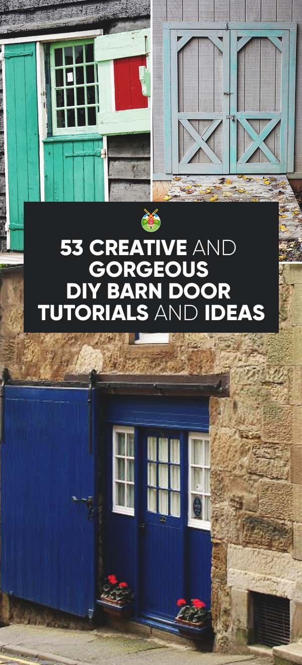 Great DIY Barn Door Ideas & 53 Creative and Gorgeous DIY Barn Door Plans and Ideas pezcame.com