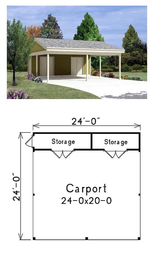 20 stylish diy carport plans that will protect your car for Carport with storage room