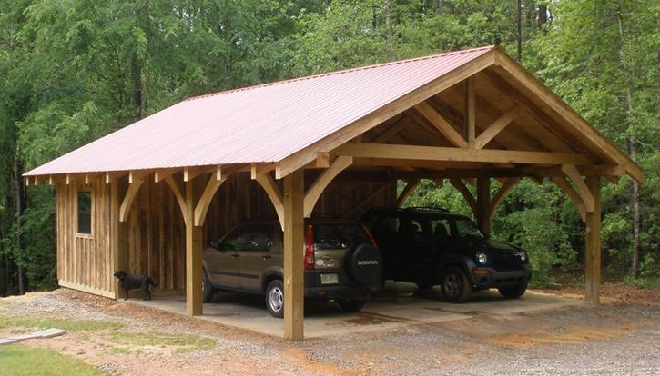 20 stylish diy carport plans that will protect your car for Carport shop combo
