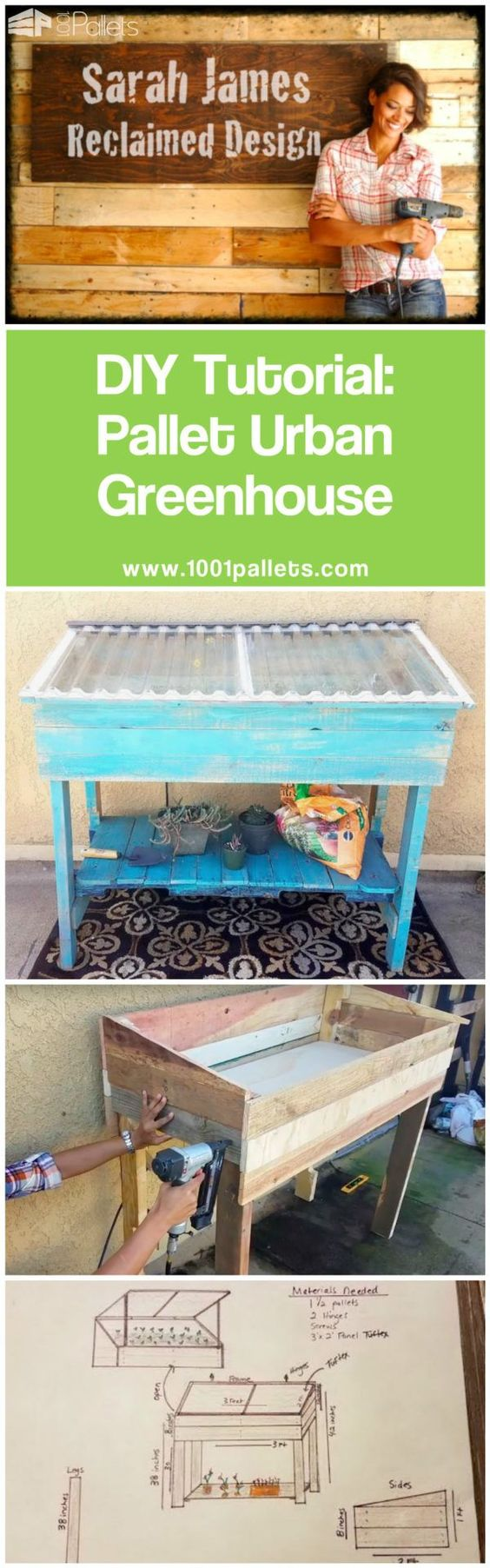 15 DIY Pallet Greenhouse Plans & Ideas That Are Sure to ...