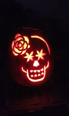 54 fantastic jack o lantern pumpkin carving ideas to inspire you day of the dead pumpkin pronofoot35fo Images