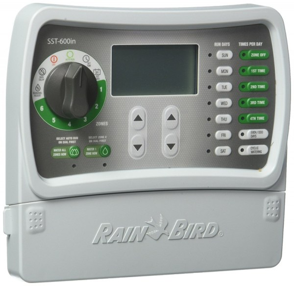Rain Bird SST600I Indoor 6-Zone Timer Sprinkler Controller