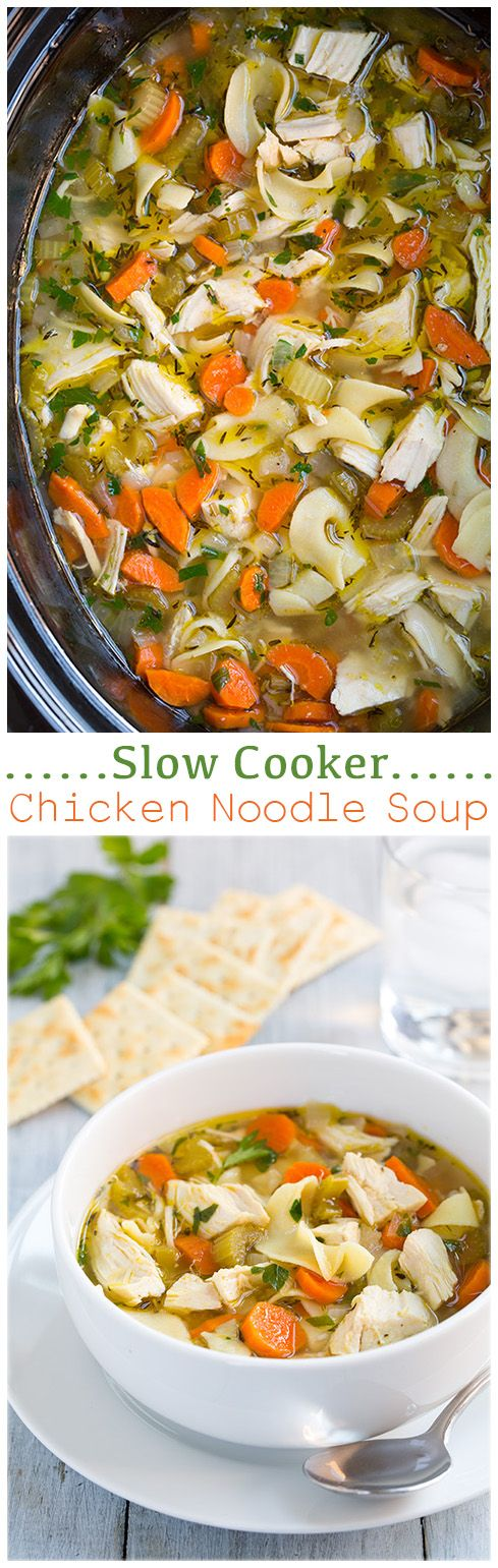 how to make easy chicken noodle soup in crock pot