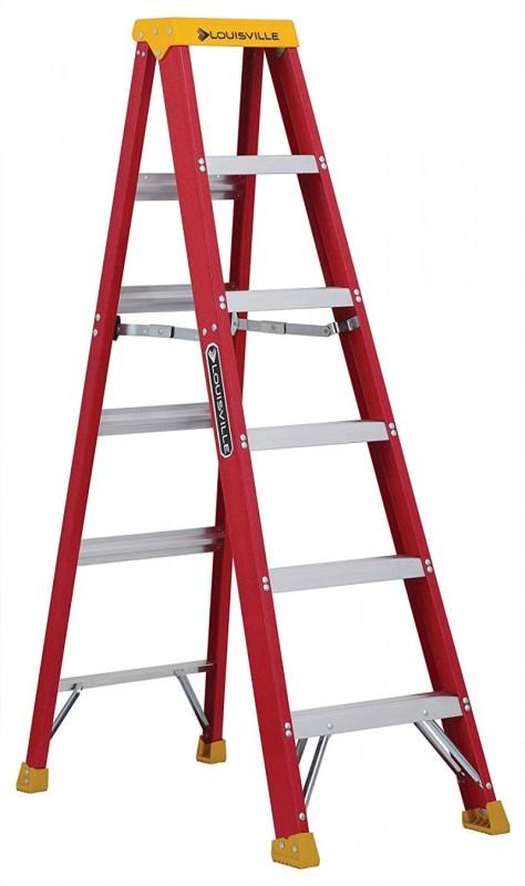 Louisville Ladder L-3016-06 300-Pound, 6-foot Fiberglass Stepladder