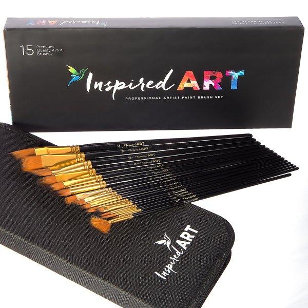 Inspired Art Paint Brush 15-Piece Set