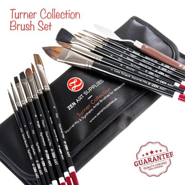 ZenArt Turner Collection 14-piece Professional Artist Brushes Set