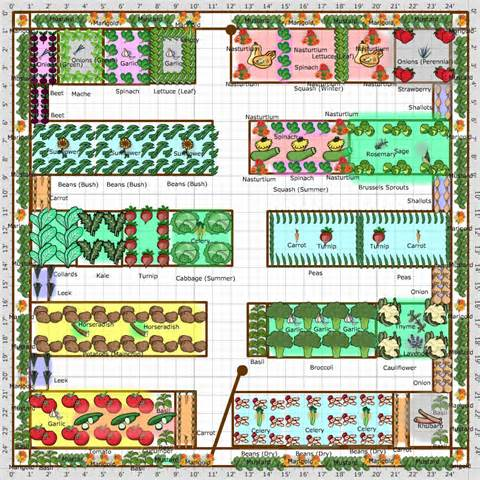 19 Vegetable Garden Plans & Layout Ideas That Will Inspire ...