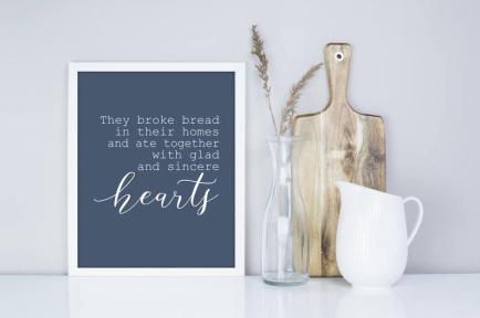 broke bread sign
