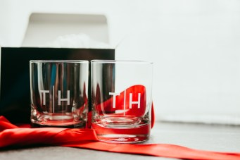 monogrammed whiskey glasses set of 2
